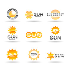 Set of sun icons. Vol 2.