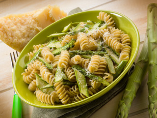fusilli with asparagus and parmesan cheese
