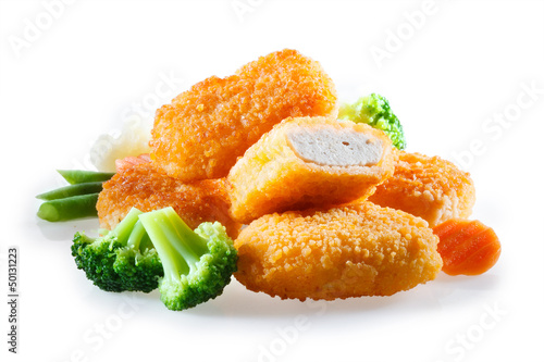 nuggets with vegetables