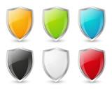 Fototapety Set of shield icons