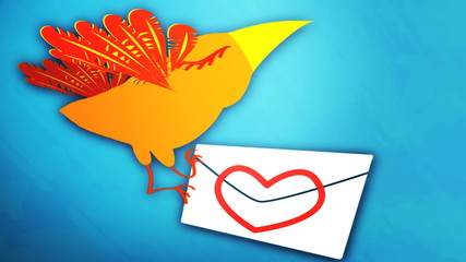 birds with love mail