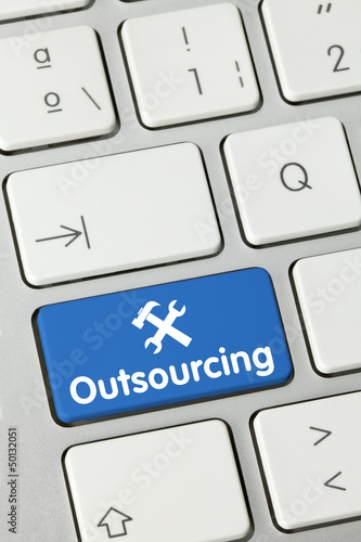 Outsourcing keyboard key finger