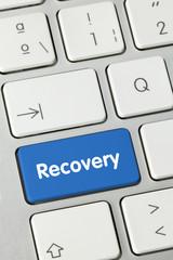 Recovery keyboard key finger