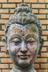 Head Buddha head In Wat Umong Chiangmai