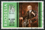 RHODESIA - 1967: shows Dr. Leander Starr Jameson (1853-1917)