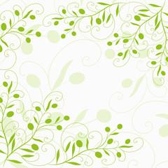 olive, olivenzweig, frieden, oliven, floral, deko, vektor, oster