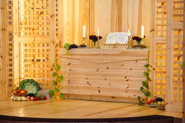 Thanksgiving church altar