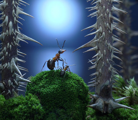 mother, don't leave me here! ant tales, thriller