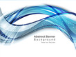 abstract digital  blue wave background