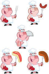 Chef Pigs. Collection