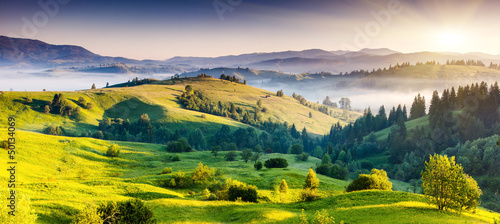 Leinwandbild Motiv mountains landscape