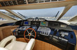 Italy, Alfamarine 78 luxury yacht, dinette, driving consolle