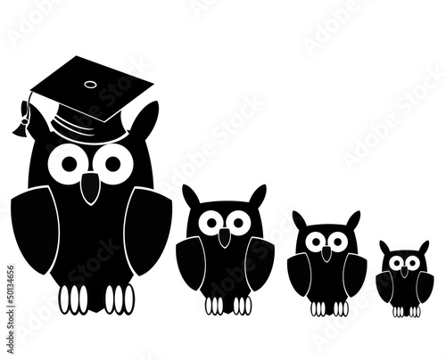 teacher and students (owl)