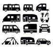 camper van icons - 50135885