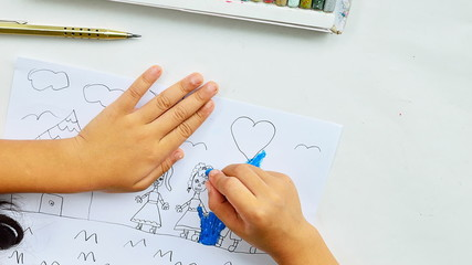 kid drawing home timelapse