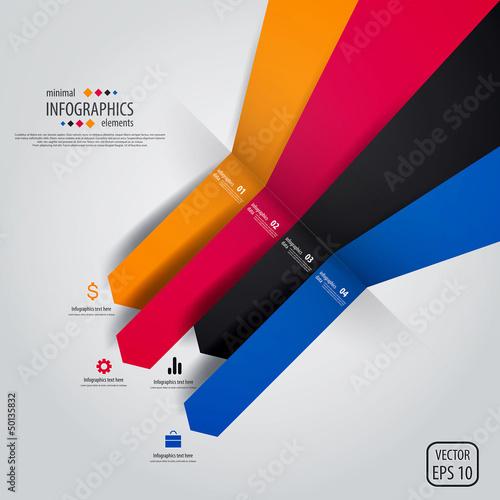 Minimal infographics design. Vector