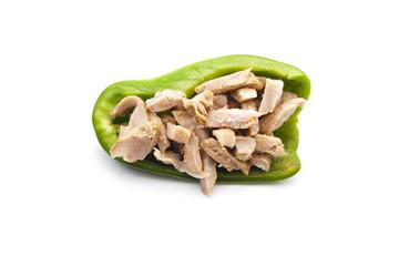 Gefüllte Paprika mit Putenfleisch