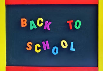 Back to School color Letters