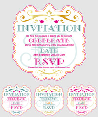 INVITATION Birthday 30th
