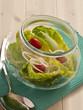 Gemischter Salat in einem Glas