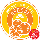 Orange fruit label
