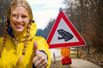 Daumen hoch, zum Naturschutz !