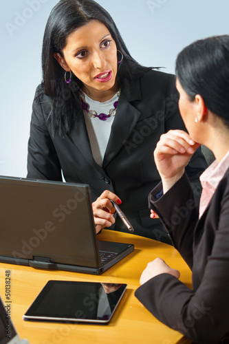 Portrait of two business women