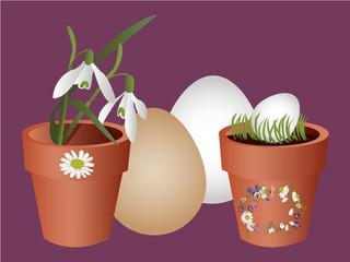 Easter flowerpot