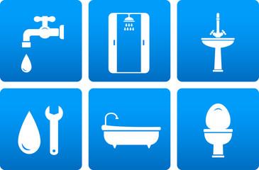 set of plumbing icons