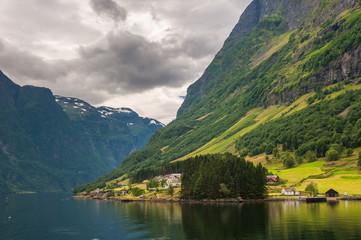 Small village in Naeroyfjord, Norway
