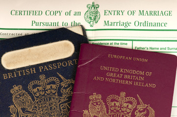 Britain married to Europe.