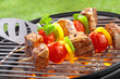 Delicious beef and vegetable kebabs