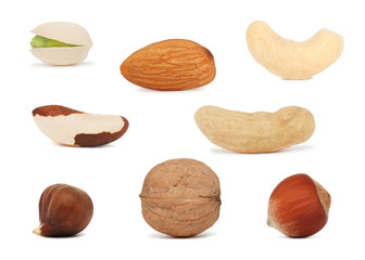 Nuts set (isolated)
