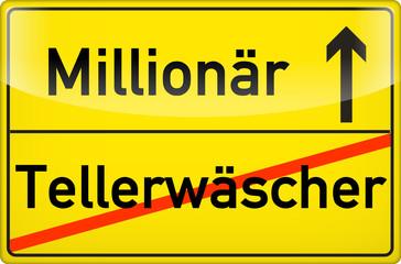 Vom Tellerwäscher zum Millionär!