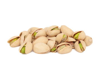 Pile of pistachios (isolated)