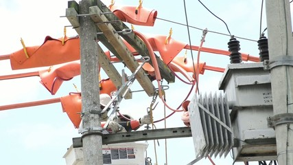 Energy transformer maintenance.