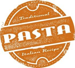 Vintage Pasta Menu Stamp