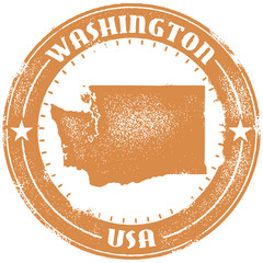 Vintage Washington USA State Stamp