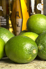 limes with beer