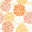 Cute unique floral autumn pattern