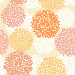 Cute unique floral autumn pattern