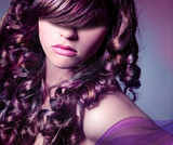 curly colored hair / haircolors 24