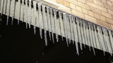 Icicles. First day of spring.
