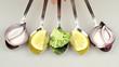 verduras en cuchara