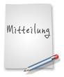 """Papier & Bleistift Illustration """"Mitteilung"""""""
