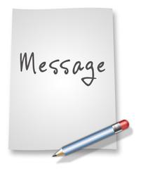 "Paper & Pencil Illustration ""Message"""