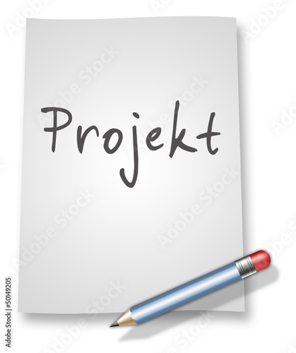 "Papier & Bleistift Illustration ""Projekt"""