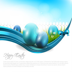 Easter modern background with copyspace