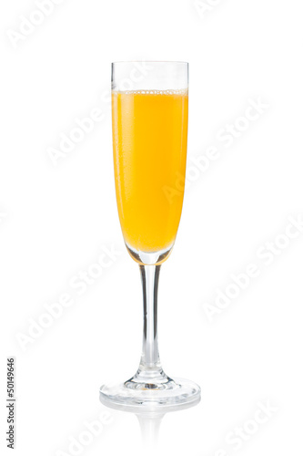 Mimosa cocktail prepared in the traditional way