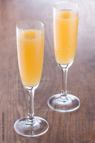 Bellini cocktail prepared in the traditional way